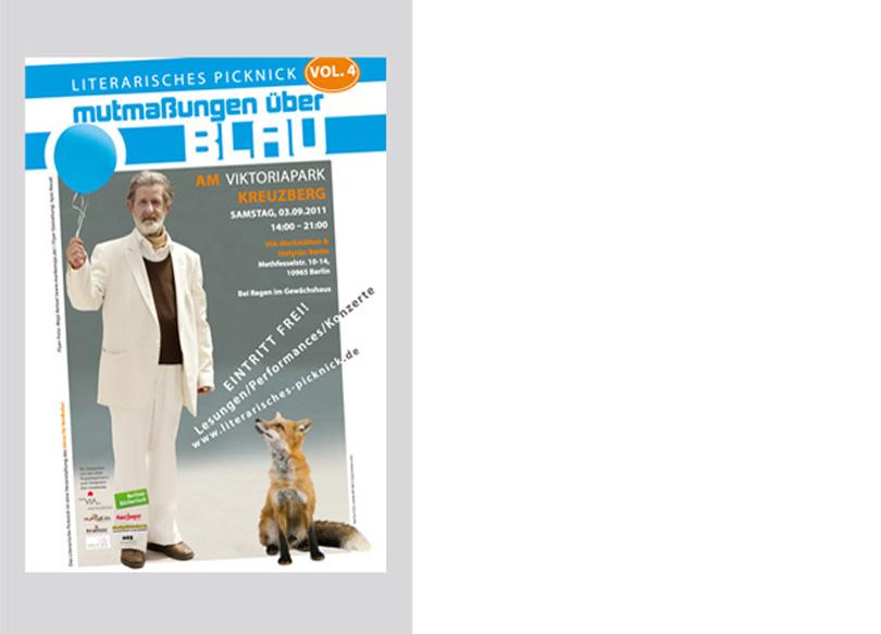 """Plakat- Und Flyergestaltung für das """"Literarische Picknick 2011"""""""