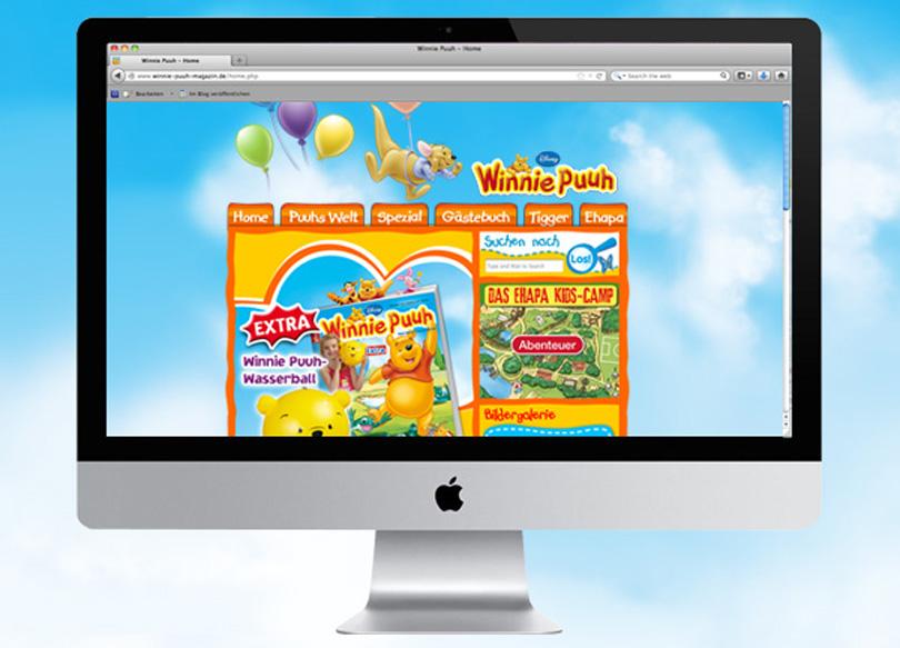 Miniwebsite zum Winnie Puuh-Magazin